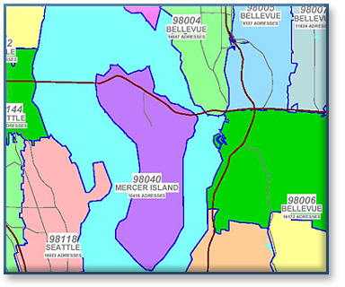 Sammamish Data Systems Inc Zip Code Polygons Maps